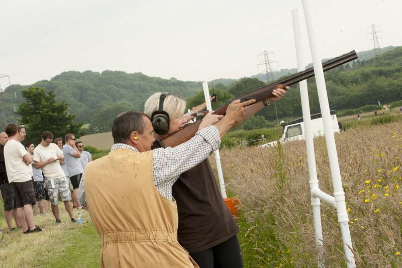 clay pigeon shooting with mojo active
